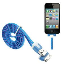 BLUE Braided Usb Data Sync Charger Cable For iPhone 4 4S 3G 3GS iPad 2 iPod