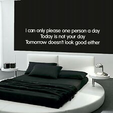 PLEASE ONE PERSON A DAY decal wall art sticker quote transfer graphic DAQ30