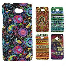 Heartly Aztec Print Tribal Matte Style Thin Hard Back Case Cover HTC Desire 601