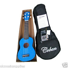 Coban Soprano Ukulele Package in Great- Dark Blue, Purple, Black and Light Blue