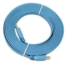 Flat HDMI Cable v1.4 High Speed Lead Blue 1080p Gold PC HD TV LCD PS4 X Box 3D