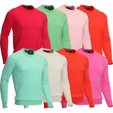 Glenmuir Mens Crew Neck Lambswool Golf Sweater Jumper Pullover Top 60% OFF RRP