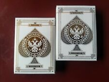 Eminence Gold & Platinum Limited Custom Playing Cards Collectors 2 Deck Set $
