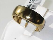 TK1391PB MENS WOMENS his OR hers PLAIN WEDDING RING BAND 7MM STEEL GOLD FILLED