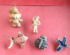 5 Lot Vintage USA Figural Pins / Brooches