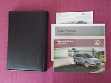 VAUXHALL ZAFIRA OWNERS MANUAL - OWNERS GUIDE - HANDBOOK INCLUDES VXR (SEJL 419)