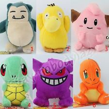 Pokemon Squirtle/Psyduck/Gengar/Cleffa/Snorlax 11cm Pendant Soft Plush Doll Toy