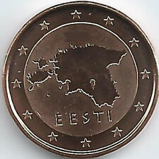 Estonia 1 Cent Currency coin (2011 - 2016), uncirculated/brilliant uncirculated