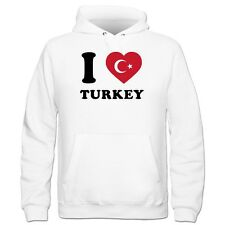 I Love Turkey Fan Kinder Kapuzenpulli