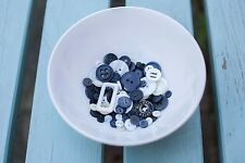 Assorted Sizes and shades of Black and White Monochrome Buttons from 99p