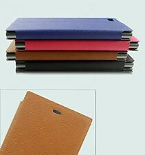 Premium Luxury PU Leather Flip Stand Hard Back Case Cover - Sony Xperia C C2305