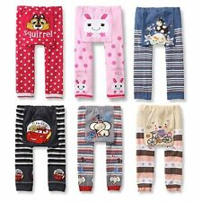 Cute Baby Kids Warm Leggings Toddler Boy Girl Elastic PP Pants Trousers Age 1-4Y