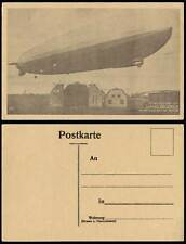 Graf Zeppelin Friedrichshafen German Airship First Flight Sept 1928 Old Postcard