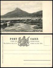 South Africa, Lions Head from Camps Bay, Mountains Beach Coast Old U.B. Postcard