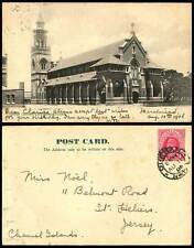 South Africa 1906 Old Postcard Durban Roman Catholic Cathedral Church Bell Tower