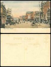 South Africa Durban Old HandTinted Postcard West Street Scene TRAM Central Hotel