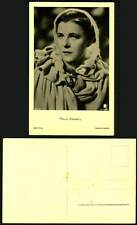 PAULA WESSELY Austrian Actress in Shawl Old RP Postcard