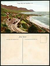 South Africa Old Colour Postcard CAMPS BAY and APOSTLES C.P. TRAM Tramway, Beach