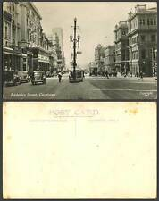 South Africa Old Real Photo Postcard Cape Town Adderley Street Scene, Cars & Bus