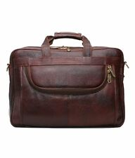 LEATHER COLLECTION 16 inch 100 % genuine Leather Laptop Messenger Bag(Brown)