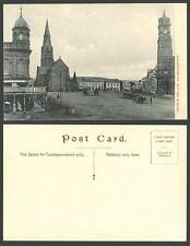 South Africa Grahamstown Church Square Clock Tower BonMarche Market Old Postcard