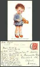 MABEL LUCIE ATTWELL 1925 Old Postcard Teddy Bear Got Any Cigawette Picture 698