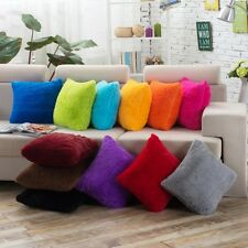 New Candy Color Plush Throw Pillow Cover Cushion Case Bed Home Bed Sofa Decor