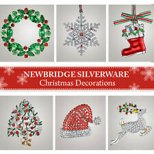 NEWBRIDGE SILVERWARE CHRISTMAS DECORATIONS! NEW - NO BOXES!