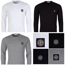 STONE ISLAND LONG SLEEVE CREW NECK T SHIRT FIVE COLOURS AND SIZES