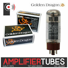 GOLDEN DRAGON EL34 /6CA7 Amplifier Power Tubes SINGLE Valve, Matched PAIR & QUAD