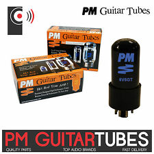 PM GUITAR 6V6GTA Amplifier Power Tubes /valves (SINGLE Tube Matched PAIR & QUAD)