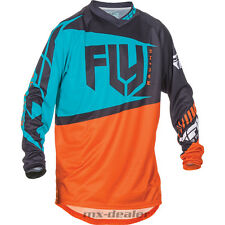 FLY Racing F-16 orange teal Trikot Jersey mx motocross Enduro Quad MTB BMX
