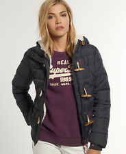 Neue Damen Superdry Jacke  Sports Toggle Puffer Nightshade