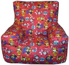 Paw Patrol Childrens Character Beanbag Bean Chair Red