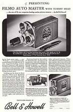 1940 Bell & Howell: Filmo Auto Master, Turret Head Print Ad (9258)