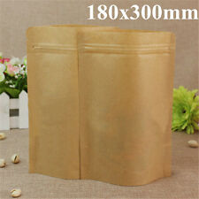 Kraft Paper Bags Aluminum Foil Packaging Stand Up With Zipper for Food Storage