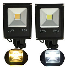 20W PIR Motion Sensor LED Flood Light IP65 Warm/Cold White Lighting