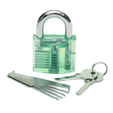 5pcs Unlocking Lock Pick Set +  Transparent Practice Padlocks 5-Color Optional