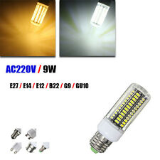 E14 E12 B22 GU10 G9 E27 LED 9W 105 SMD 5730 Warm White White Fire Cover Corn LED