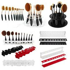 Oval Toothbrush Makeup Brush Holder Display Dry Rack Stand Case Organizer Shelf