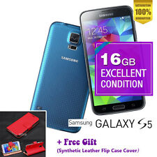 Samsung Galaxy S5 SM-G900F 16GB Electric Blue Unlocked Smartphone