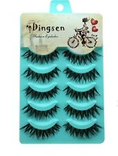 Crisscross Thick Long False Eyelashes Fake Black Brown Extension Handmade