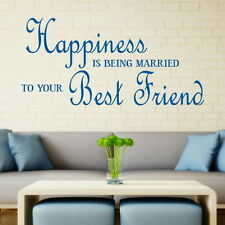 HAPPINESS MARRIED BEST FRIEND decal wallart sticker quote transfer graphic DAQ23