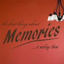 BEST THING ABOUT MEMORIES decal wall art sticker quote transfer graphic DAQ10