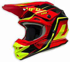 UFO PLAST CASCO HELMET ROSSO RED INTERCEPTOR 2 MOTO CROSS ENDURO MOTARD MTB