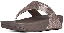 FitFlop 639-295 Women's Copper Lulu Superglitz Thong Sandals - New With Box