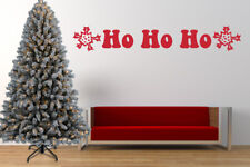 Ho Ho Ho Santa Quote, Christmas Wall Art Stickers, Mural, Decal. Window, Mirror