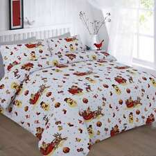 NEW CHRISTMAS NOEL FESTIVE DUVET COVER BEDDING SET SINGLE DOUBLE KING SUPERKING