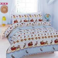 CHRISTMAS SNOWDEN FESTIVE DUVET COVER BEDDING SET SINGLE DOUBLE KING SUPERKING