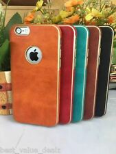 Premium TPU leather back cover case side shine for Apple iPhone 6 6s